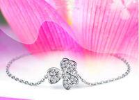 Clover Bracelet 925 Sterling Silver Women Bangle Charm Women Jewellery Love Gift