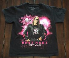 WWE Wrestling Bret The Hitman Hart Shirt Kids Youth M Medium Estimate Age 5/6