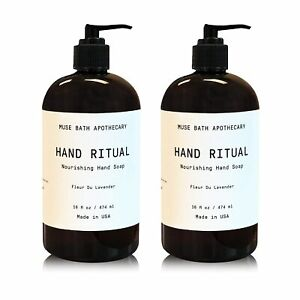 Muse Bath Apothecary Hand Ritual - Aromatic and Nourishing Hand Soap, 16 oz,