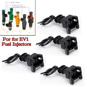 4PCS Fuel Injector Connector Wiring Plugs Clips Fit EV1 OBD1 Interface