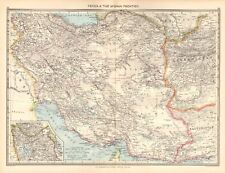1907  LARGE ANTIQUE MAP - PERSIA & THE AFGHAN FRONTIER