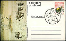 South West Africa 1976 Warthogs Stationery Postcard #C16710