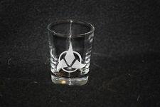 Star Trek Klingon Symbol Custom Etched Shot Glass
