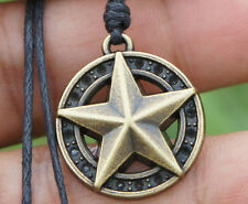 Lone Star of Texas Brass Pendant adjustable cotton necklace