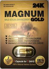 10 Pills MAGNUM 24K Gold Male Enhancement Stimulant Sexual Performance