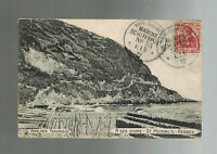 1912 Germany Schiffpost  Postcard Cover to Germany Azores BEach view