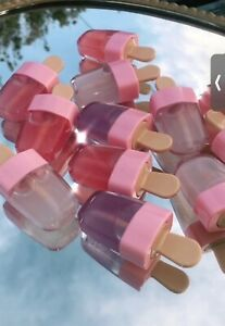 cute lip gloss in ice pop tubes shimmery gloss with light glazed look: 3 glosses