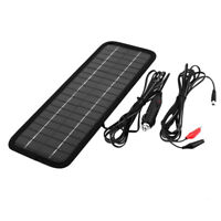 NEW Solar Panel 12V to 5V 4.5W Powered Car Auto Truck Motorcycle Battery Charger