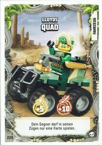 Lego ninjago Serie 6 La Isola TCG Mappa No. 220 Lloyds Quad