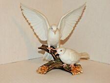 Homco, 1985 Home Interiors - Masterpiece Porcelain Figurine - Pair White Doves