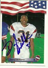 1992 USA DARRYL WILLIAMS Signed Card Lambeau Field BENGALS MIAMI autograph