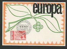 FRANCE MK 1965 EUROPA CEPT STRASBURG CENTRE MAXIMUMKARTE MAXIMUM CARD MC d5304