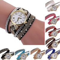 Fashion Women Quartz Watch Bling Crystal Diamonds Bracelet Lady Girl Wrist Watch