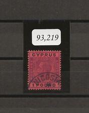 CYPRUS 1924-8 SG 102 USED  Cat £850 . CERT