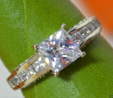 1.68 ct Princess Cut Solitaire Diamond Engagement Ring Solid 14k White Gold