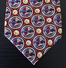 Jerry Garcia ALL Silk Tie Collectors Edition Red Multi-Color Geometric