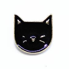 Beautiful Black Cat Pin Badge