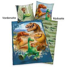 ARLO & SPOT Hiver Draps de lit réversibles - Flanelle 135x200 & 80/80 Dinosaure