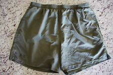 USMC US MARINE CORPS UNDER ARMOUR O.D. GREEN ATHLETIC SIDE CUT PT SHORT SIZE XL