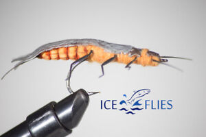 ICE FLIES. Realistic Adult stone fly. 2 - pack.