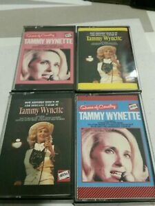 Tammy Wynette four (4) Cassette Tapes