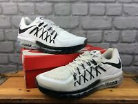 NIKE MENS AIR MAX 2015 WHITE BLACK TRAINERS VARIOUS SIZES RRP £140 T