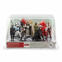 Disney Star Wars The Last Jedi Deluxe Figure Play Set/Cake Topper-NEW/Clear/Box