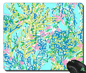 RARE ITEM Skye Blue Heaven Lilly Pulitzer Pattern mousepad