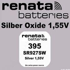 1x Renata Uhren Batterie Knopfzelle 395 SR927SW AG7 Silberoxid Neu Blisterware
