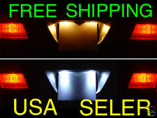 NO ERROR White LED License Plate Bulbs Pair For 1997-2003 Ford Escort ZX2