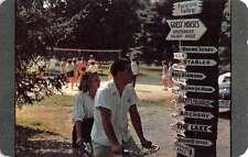 Echo Lake Pennsylvania Tandem Bike Riders Vintage Postcard K63219