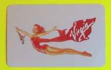 Virgin Airlines-Pretty Pin Up as Plane - Modern Advertising Swap Playing Card