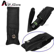 "17cm/6.69""Length Molle Water Repellent Nylon LED Flashlight Pouch Holster Black"