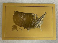 GOLD 2020 White House Christmas Card President Donald Trump Melania No Envelope