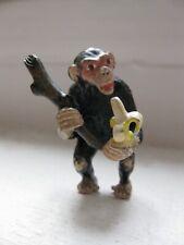 More details for austrian, cold painted bronze, miniature, monkey w/ banana, franz bergman