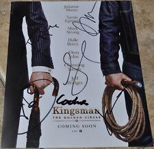 "Kingsman The Golden Circle Cast Signed 10""x8"" Photo Halle Berry , Julianne Moore"