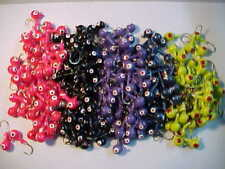 100 NEW ASSORTED MIX OF  WALLEYE JIG   FLOATING HEADS 3/8 OZ.  HOOK SIZE 1