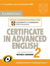 Cambridge Certificate in Advanced English 2 for Updated Exam Student's Book with