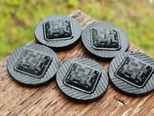 Vintage German Black Glass Cabochons & Button Blanks Jewelry Making Crafts