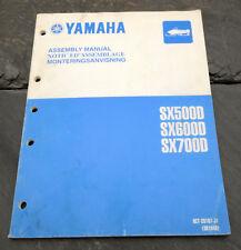 2000 Yamaha SX500D SX600D SX700D Snowmobile Assembly Manual 8CT-28107-J1