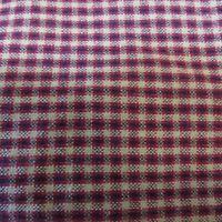 Vintage Cotton Homespun Fabric Checked Quilting Shirting