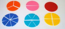 LEARNING RESOURCES BASIC FRACTION CIRCLES MATH RESOURCE 24 PCS. NEW