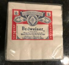Vintage Budweiser Beer Napkins 20 Pack AWESOME!!