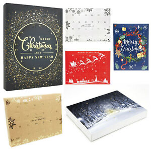 Fill Your Own Advent Calendar - 10 Pack Christmas Premium Deluxe DIY 24 Calender