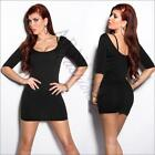 NEW SEXY BODYCON DRESS with 3/4 sleeves XS S M L online HOT STRETCH MINI DRESSES
