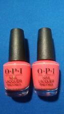 Opi Nail Polish Lacquer ~Tutti Frutti Tonga Nl S48 ~ 0.5 oz Lot of 2