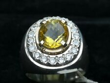SILVER RING HANDMADE NATURAL CITRINE