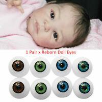 Reborn eyes Secrist dark Blue half round x 1 pair