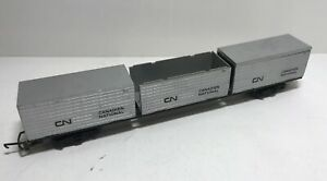 *RARE* Tri-ang Freight Car Canadian National Silver OO - Vintage Model Trains