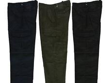 "MENS COMBAT CARGO TROUSERS/PANTS BLACK NAVY OLIVE 30-44 WAIST 31"" & 29"" LEG"